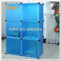 6 cube DIY PP plastic shelf organizer clothes cabinet FH-AL0023-6