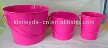 powder coated metal garden bucket