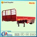 Tri- eje de carga a granel de camiones semi y acoplado con laterales de cortina