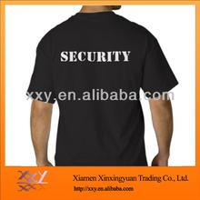 100% Cotton Black Blank Big Size O-neck Short Sleeve T-shirt For Men