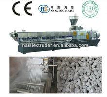 HS high quality twin screw plastic granules extruder/pelletizer/granulator