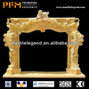 Modern decorative 100% hand-craved natural marble freestanding outdoor fireplace