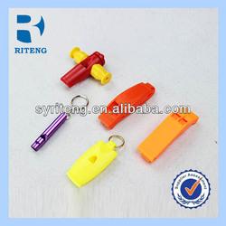 colorful samba whistle samba plastic whistle/ cross flat whistle
