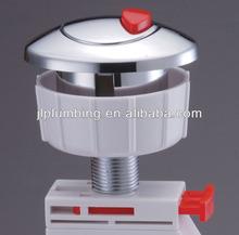 Top mount dual cable push button toilet