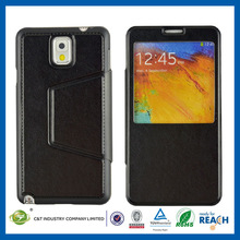 C&T Black Stand leather flip case cover for samsung galaxy note 3