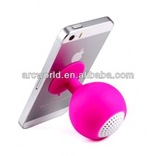AWS379 Silicone Suction portable bicycle speaker bag For iphone