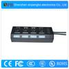 New Arrival USB Hub 4 Ports Led Indicator Light USB 2.0 Hubs with Cheap Price