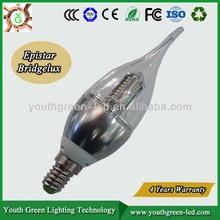 5years Quality Guaranteee 2013 Newest E14 Candelabra Base e14 led candle light