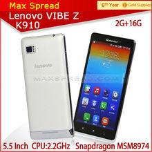 "New QUAD CORE dual sim 2.2ghz 13mp 5.5"" lenovo K910 Unlock phone"