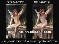 Handmade hot nude kids oil painting on canvas