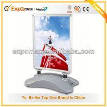 Customized desktop L-shaped acrylic memu poster display stand