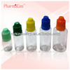PET colorful childproof and tamperproof cap plastic e liquid empty bottles 5ml/10ml/15ml/20m/25ml/30ml/50ml/100ml