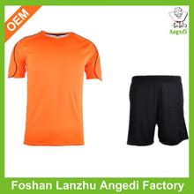 Football shirt maker soccer jersey manufacturer supply cheap black orange soccer jersey