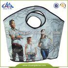 China Green Laminated gift pp woven bag