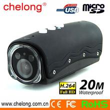 "Waterproof 5 Mega Pixel 1/2.5"" CMOS Sensor 120DEG Wide Angle Mini DV DVR Sports Cam Video Camera"