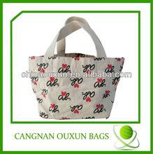 Sweet canvas tote folding shopping bag