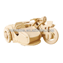 Robotime 3D R/C Wooden Puzzle Vehicle Model Toy - Motor Tricycle