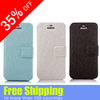 Pure color Simple design Thin and Light silk texture Mobile phone leather case for iphone 5