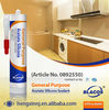 Wide Adhesion Uv Resistance Non Yellowing Window & Door Silicone Sealant