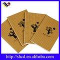 impressos de papel marrom kraft cadernos personalizados para a escola