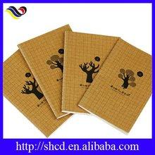 Printed brown kraft paper custom notebooks for school