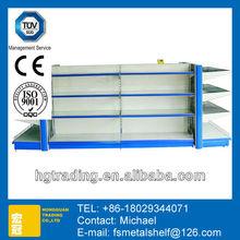 Deluxe Plain Back Panel Standard Supermarket plastic decorative wall shelves