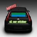 custom design arrière de voiture el clignotant autocollant de fenêtre