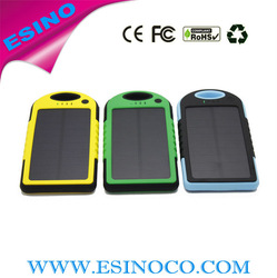 Factory supply real 5000 waterproof solar powered phone charger for hiking