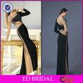 El diseño especial de cuentas de manga larga vestido de fiesta para mujer madura( ed- p055)