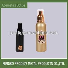 New Design colored aluminum empty decorative perfume bottles