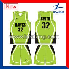 sublimation high quality basketball uniform design