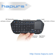 Hapurs 2.4 G Mini Wireless Keyboard for PC/ Android Smart TV