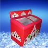 Curved Double Door Ice Cream Freezer For Sale