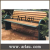 Arlau FW59 wood bench furniture outdoor long wood bench with back