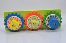 Wooden Shape Blocks Toy Gears
