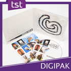 Great Plastic Tray CD / DVD DIGIPAK with slit Cut Packaging