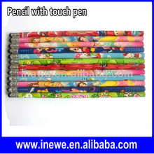 Cartoon Patterns Pencil With Touch pen for capacitive screen smart phone