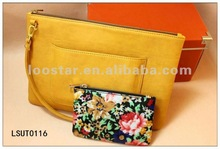 Flower Printing Clutch Handbag
