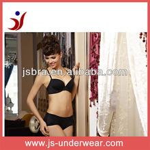 Mature girls cup bra set, Classic plain solid triumph bra sets, Polyester push up sexy lady black underwear bra and panty