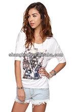 china manufacturer wholesale women printed brand t shirt