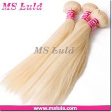 Virgin brazilian hair weft body wave light blonde human hair weave