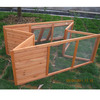 Custom Folding wood rabbit hutch with large run RU005