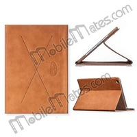 HOCO Ultra Slim Luxury Series Wake Sleep Function X Shape Flip Stand Leather Case for iPad Air Protective Case (Brown)