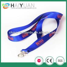 high quality true thick nylon lanyard, 100% nylon with custom logo