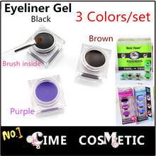 3*Color/Set, Waterproof Eyeliner Make up For Eyes, Gel Eye Liner
