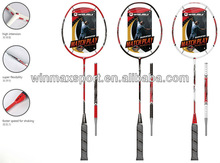 Free sample lining badminton racket with high intension&super flexibility
