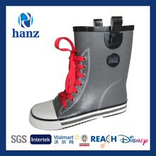 hot sale laced rubber children wellington boots