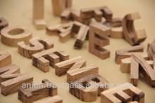 Olive Wood Decoration Carved Letters