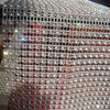 12 rows plastic clear color rhinestone mesh trimming diamond mesh for garment