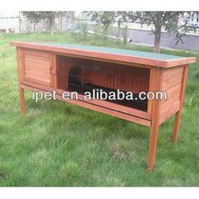 Easy clean single wooden rabbit hutch with tray RH037